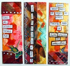 punk projects: Mixed Media Bookmarks