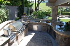 large outdoor kitchen - Google Search