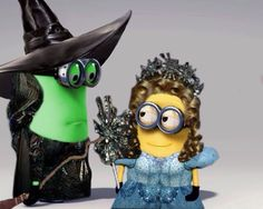 Wicked's Elphaba and Glinda Minions. I know a few people who need some of these! haha