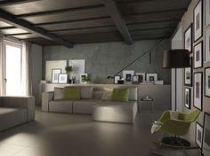 Abbinamenti pavimento grigio - Pavimento grigio e arredi moderni