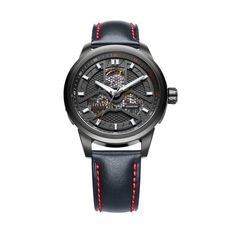 Inspired by the extreme, this watch from the Fiyta Extreme Collection has an automatic mechanical movement that keeps it telling you the time, with a stainless steel case plated a bold black, and waterproof up to 5ATM. it's a one of a kind timepie...