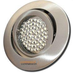 Sets- LED Einbaustrahler Timo 230Volt Downlights - HV Einbauleuchten 3Watt Strahler.