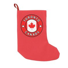 Toronto Canada Small Christmas Stocking - christmas stockings merry xmas cyo family gifts presents