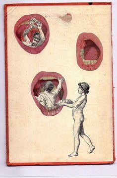 Collage - art journal inspiration. Federico Hurtado     el postre
