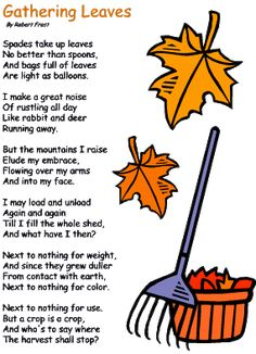 The falling leaves poem essay