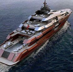 Beautiful red mega yacht they should of painted GREEN for the color of money. ww… Beautiful red mega yacht they should of painted GREEN for the color of money. Jet Ski, Jet Privé, Yacht Luxury, Luxury Travel, Luxury Cars, Luxury Yacht Interior, Private Jet Interior, Luxury Yachts For Sale, Yacht Design