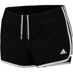 Adidas Womens Woven 3 Stripe Short Black Shorts XL ($28) ❤ liked on Polyvore featuring activewear, activewear shorts, black, adidas, adidas sportswear and adidas activewear