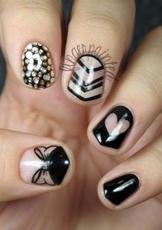 Space-out! The latest nail art idea: negative space nails!