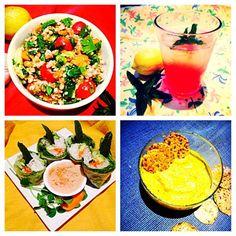 Buckwheat Tabouli, Thai Spring Rolls and Homemade Hemp Hummus! #nutiva  #chef_shanna  http://nutiva.com