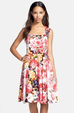 Hello floral! Such a cute fit and flare dress!