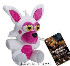 Five Nights At Freddy's FUNTIME MANGLE FOXY Plush Toy Stuffed NWT FUNKO *FNAF  #FUNKO
