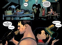 I'm so tired of people saying Dick was the best Robin! When It was obviously Damian! It's an opinion, but I'm strongly supporting mine! All the reasons he's the best Robin with pictures a proof! I Am Batman, Batman Robin, Marvel Dc, Marvel Comics, Dc World, Bd Comics, Dc Memes, Batman Family, Damian Wayne