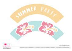 Cupcake wrappers Summer Party Printables   CatchMyParty.com Free Summer, Cupcake Wrappers, Silhouette Cameo Projects, Party Themes, Party Ideas, Summer Parties, Free Blog, Party Printables, How To Make