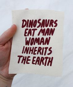 Dinosaurs Eat Man Patch on Etsy, $3.77