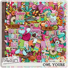 Digital Scrapbook Kit, Owl Yours by Bella Gypsy