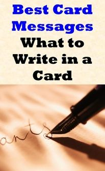 I hate when I can't think of what to write in a card! Several examples of what to write in a card when you're at a loss for words.