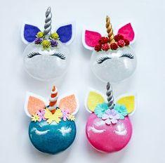 DIY unicorn christmas ornament.