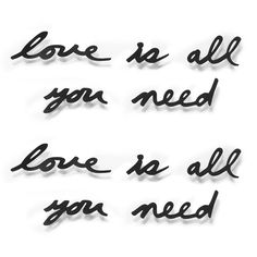 Love Is All You Need Wall Decor has 10 wall mountable words to create these beautiful sayings.
