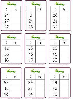 die Geteiltaufgaben üben if I were to work on my Flex and Floarbeitsplan, then I would have to repeat the multiplication and division now . Math Division Worksheets, Kids Math Worksheets, Math Games, Math Activities, Learning Games, Eureka Math, Math School, Math Multiplication, Free Math