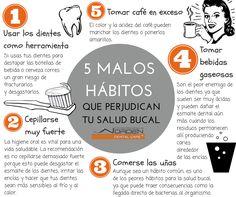 5 MALOS HÁBITOS QUE PERJUDICAN TU SALUD BUCAL