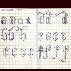 Letter forms and caligraphy