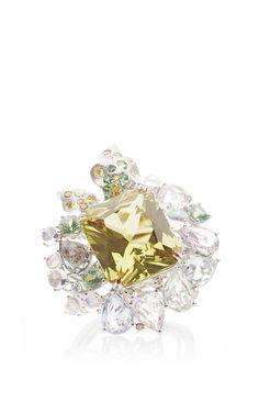 Anna Hu Athena's Laurel Chrysoberyl And Paraiba Ring by Anna Hu Haute Joaillerie Spring-Summer (=)