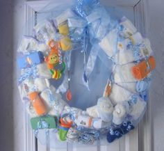 Diaper Cakes and Baby Wreaths#Repin By:Pinterest++ for iPad#