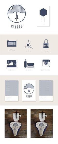 Identité visuelle et design de la marque Giselle spécialisée en accessoires de…