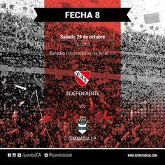 ¡HOY INDEPENDIENTE!  #Independiente y Gimnasia de La Plata se enfrentan por la fecha 8 del torneo de Primera División  #VamosRojo