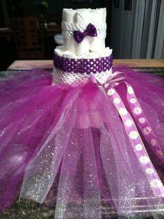 Tutu dress diaper cake | Diaper Cakes | Pinterest | Tutu Dresses ...
