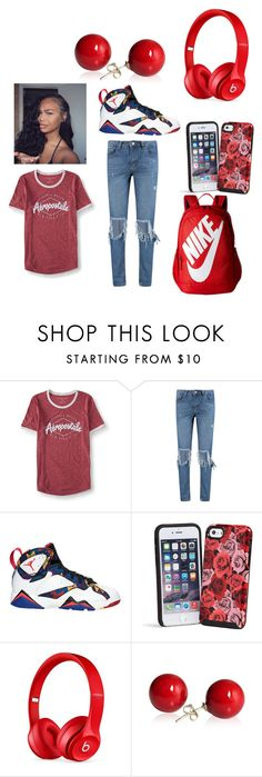 """""""Untitled #562"""" by qweenbrii ❤ liked on Polyvore featuring Aéropostale, Boohoo, Vera Bradley, Beats by Dr. Dre and NIKE"""