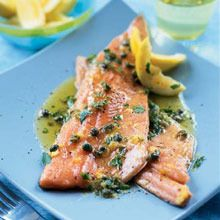 Safeway : Baked Trout with Lemon-Parsley Butter recipe