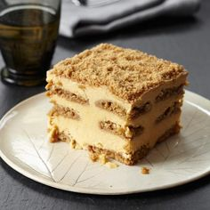 Pumpkin-Gingersnap Tiramisù   Pumpkin pie meets tiramisu, with layers of pumpkin-mascarpone custard and gingersnaps brushed with Calvados syrup. In the freezer, the flavors and textures meld to form a deliciously creamy dessert.