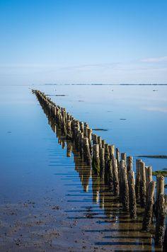 Rømø - Denmark (by Stefan Klaas) Solitude, Landscape Photos, The Good Place, Amazing Places, Vacation, World, Nature, Rivers, Beaches