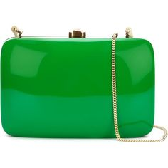Rocio 'Rio' clutch (50,160 INR) ❤ liked on Polyvore featuring bags, handbags, clutches, green, green clutches, green handbag, wooden purse, wood handbag and wood purse