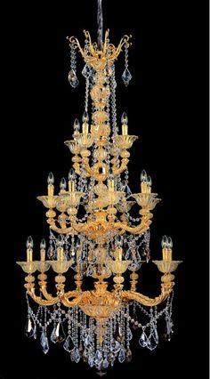 47e8ad7d68b3 Allegri 11096 Mendelssohn 20 Light Three Tier Chandelier Two-Tone Gold    24K with Firenze