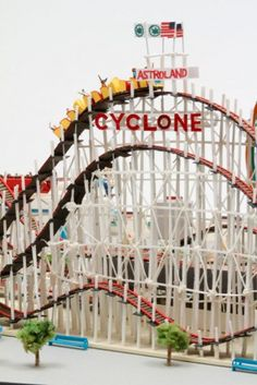 Back when the Cyclone was part of Astroland (Coney Island, Yumiko Matsui, Artist)