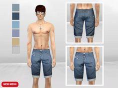 Diamante Fashion Short by McLayneSims at TSR via Sims 4 Updates