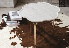 coffee table and side table made from natural marble. Marble Furniture, Home Furniture, Modern Loft, Marble Stones, Industrial Style, Natural Stones, Living Room, Coffee, Table