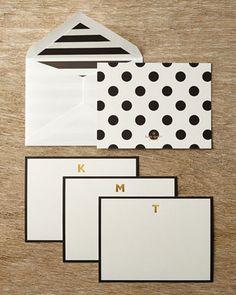 kate spade new york Monogram Correspondence Cards