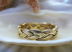 14k James Avery Braided Ring 4.5g Size 7 Rare by EverythingIOwn, $320.00