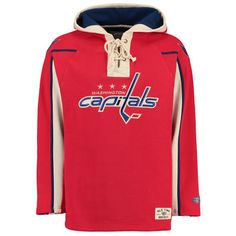 02926b60a Old Time Hockey Washington Capitals Red Lacer Heavyweight Pullover Hoodie  is available now at FansEdge. Enjoy fast shipping and easy returns on all  orders ...