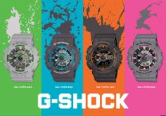 Start this week in Neon style on your wrist with G-Shock GA-100TS. Which one would you have on your wrist?