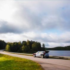 The whole arena is rimmed with the lush forest and beautiful lake! - 울창한 숲과 아름다운 호수를 따라 달리는 i20WRC! - #woods #nicelake #wonderfulview #race #carwithoutlimits #i20WRC #Finland #Rally #motorsport #WRC #Hyundai