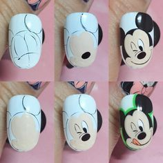 Pop Art Nails, Cute Nail Art, Cute Nails, Halloween Nail Designs, Halloween Nail Art, Nail Art Disney, Korea Nail Art, Nail Art Dessin, Cartoon Nail Designs