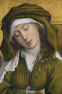 Rogier van der Weyden · El descendimiento (detalle: María Salomé) · Museo Nacional del Prado · Madrid (España)