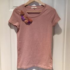 J Crew Rosette T Feminine & floral cotton t from J Crew. Unworn with tags attached. Sorry no trades or PayPal. Thanks for shopping by! J. Crew Tops Tees - Short Sleeve