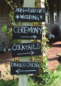 Wedding guide sign