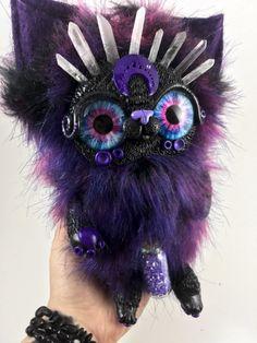 purple crystal kitten