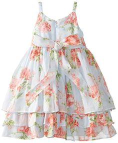 Pippa & Julie Little Girls' Soft Cotton Sundress, Multi, 6X   - Click image twice for more info - See a larger selection girls printed fashion- girls, little girls, kids, kids fashion, girls fashion, girls dress, casual dress, everyday dresses, gift ideas